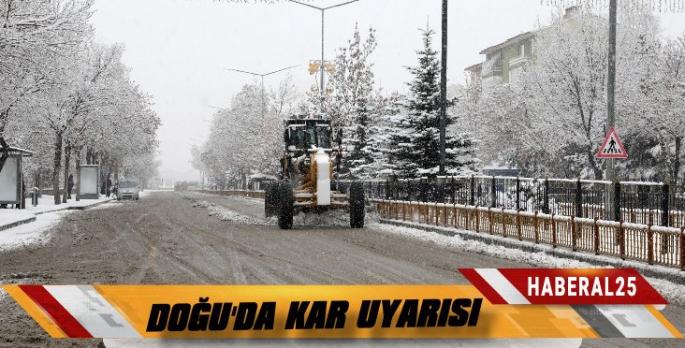 Doğu'da Kar Uyarısı