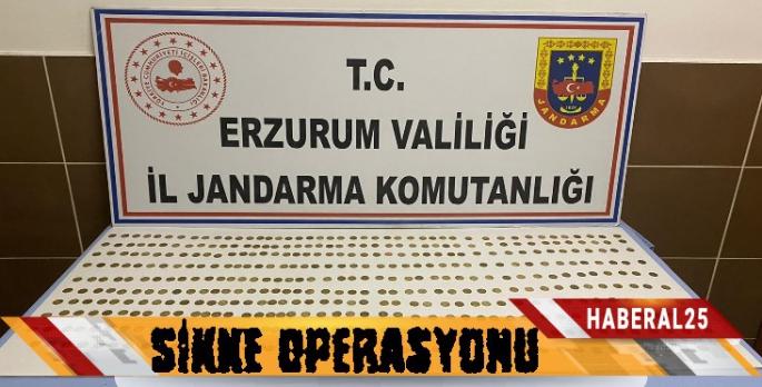 Erzurum'da Sikke Operasyonu