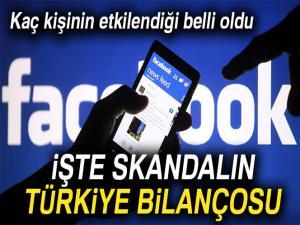 Facebook skandalından Türkiye'de etkilenen kişi sayısı belli oldu