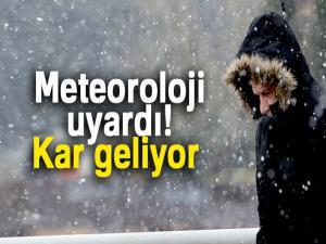 Meteoroloji uyardı! Kar geliyor |1 Aralık yurtta hava durumu