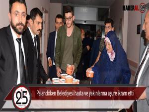 Palandöken Belediyesi hasta ve yakınlarına aşure ikram etti