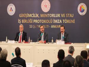 TOBB'da 'Girişimcilik, Mentorluk ve Staj İş Birliği Protokolü' imzalandı