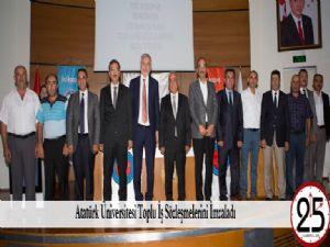 Atatürk Üniversitesi Toplu İş Sözleşmelerini İmzaladı