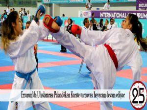 Erzurum'da Uluslararası Palandöken Karate turnuvası heyecanı devam ediyor