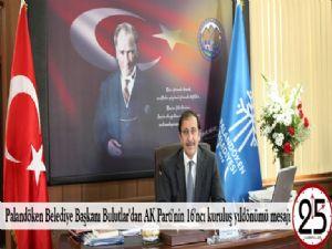 Palandöken Belediye Başkanı Bulutlar'dan AK Parti'nin 16'ncı kuruluş yıldönümü mesajı