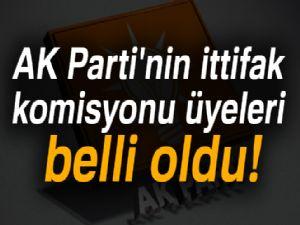 AK Parti'nin ittifak komisyonu üyeleri belli oldu!