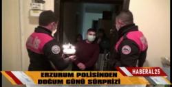 Erzurum Polisinden Doğum Günü Sürprizi