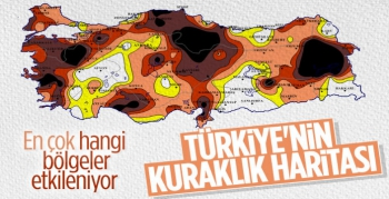 Türkiye'nin 9 Aylık Kuraklık Haritası